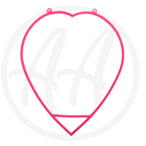 Pink Aerial Heart Hoop For Sale