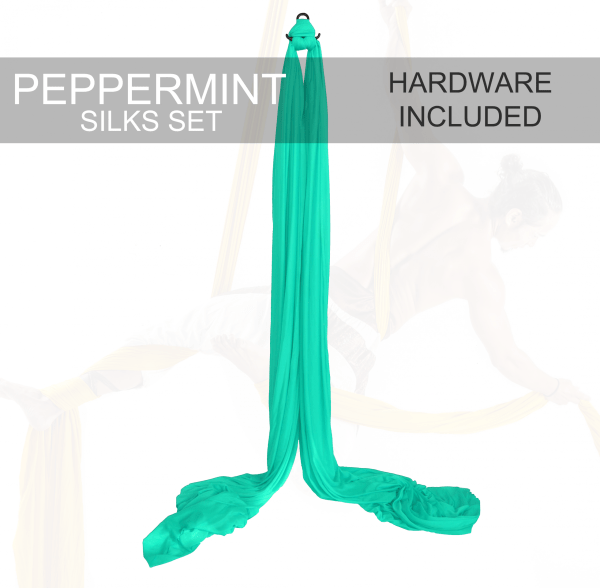 peppermint green aerial silks for sale