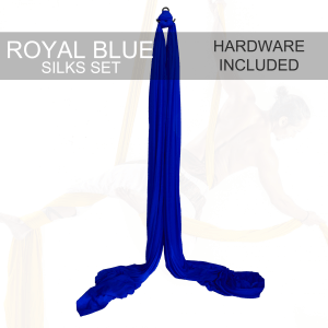 Royal blue aerial silks for sale
