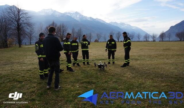 Aermatica3D Consegna DJI M210 RTK al Corpo Valdostano dei Vigili del Fuoco