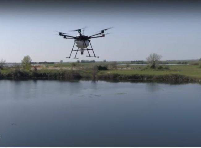 lotta biologica alle zanzare con droni