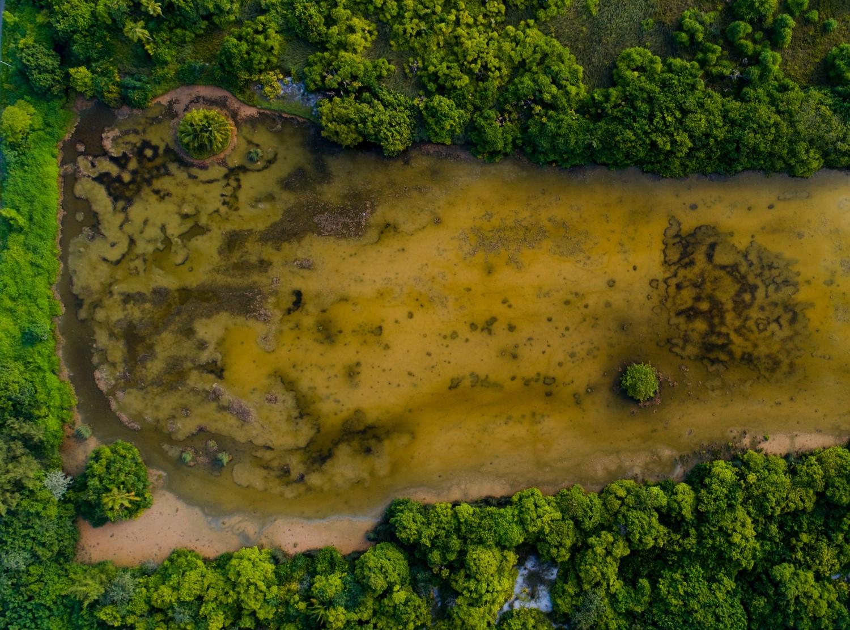 Rilevamento materiale inquinante con drone