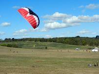 Am Vormittag reichte der Wind auch mal für Lenkdrachen