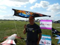 Auch dafür kann ein Drachen bei Windstille praktisch sein.