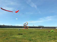 Herz und Knüpfer-Schlange vor dem Gebäude des Flughafen Tempelhof