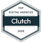 clutch.co award badge 2020 for Aero Business Solutions ABS top digital agency in bangalore india 150X150