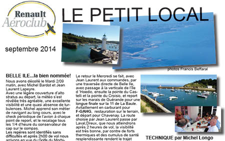 Le Petit Local de septembre