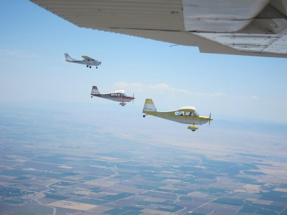 flyout, airplane, camping