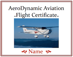flight training, gift certificate