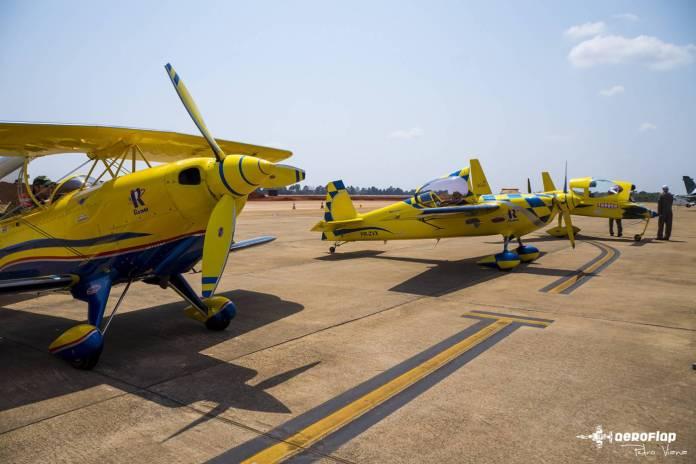 Esquadrilha Textor com suas aeronaves parkeadas.