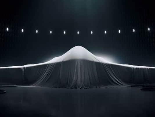 Foto fornecida pela Northrop mostrando o mistério sobre essa nova 6ª geração.