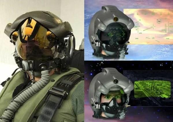 Uma das contribuições de Israel para o F-35 é uma espécie de visor translúcido no capacete , produzido pela Rockwell Collins e Vision Systems em joint venture com a Elbit Systems.