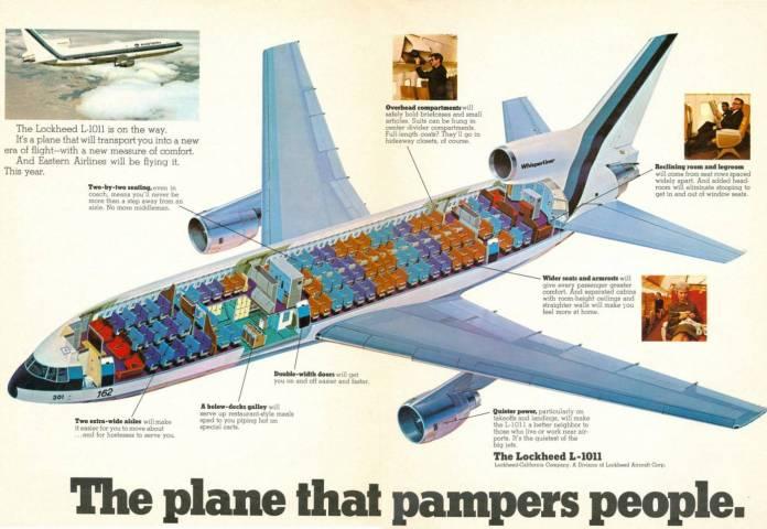 Representação em corte do Lockheed.