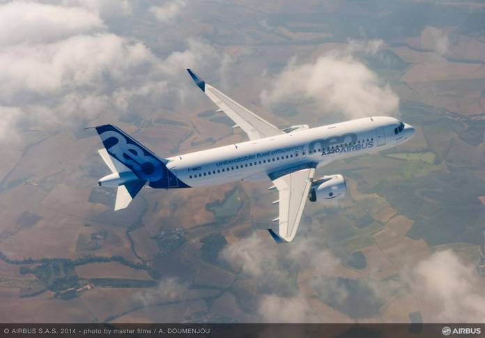 A320neo em seu primeiro voo