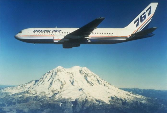 Boeing de testes nos anos 80...