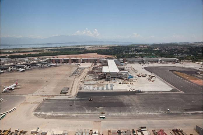 Pier Sul em Obras no Galeão. Foto - Aeroporto RIOGaleão