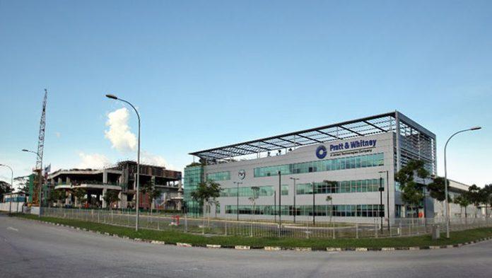 Unidade da Pratt & Whitney em Cingapura.