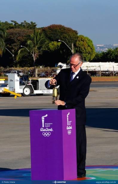 Presidente do Comitê Olímpico.