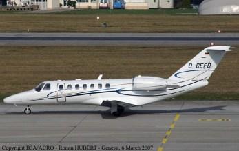 Cessna Citation CJ2 semelhante à aeronave que se envolveu no acidente.