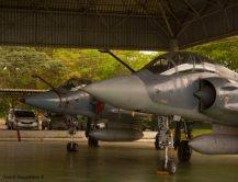 Mirage 2000C/B expostos na Base Aérea de Brasília