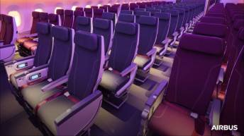 A35-1000 Airbus Qatar economy