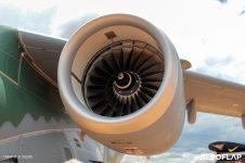 Detalhe de um dos motores IAE V2500-E5 do KC-390