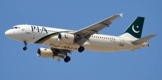 PIA Paksitan International Airlines Airbus A320