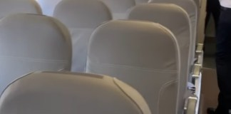 Interior da Itapemirim Transportes Aéreos