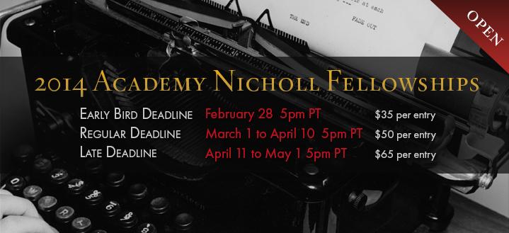 Academy Nicholl Fellowships in Screenwriting 2014