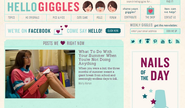 Writing for HelloGiggles