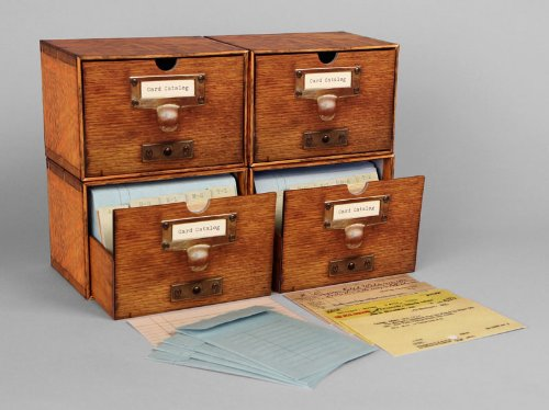 Christmas Gifts for Writers - Card Catalogue Notecard Set