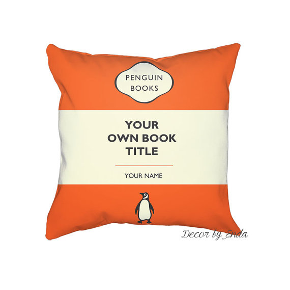 Christmas Gifts for Writers - Custom Penguin Books Pillowcase