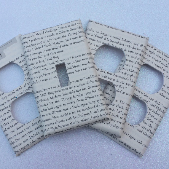 Christmas Gifts for Writers - Favourite Book Page Switchplate