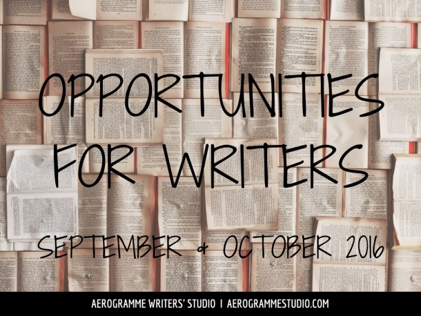 Opportunities for Writers in September and October 2016