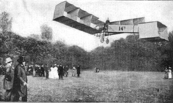O voo de 12 de novembro de 1906.