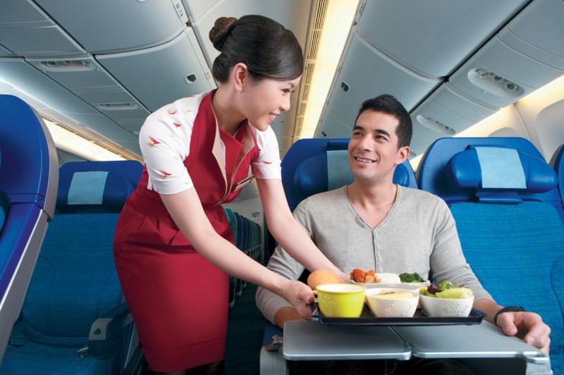 O premiado serviço de bordo da Cathay Pacific