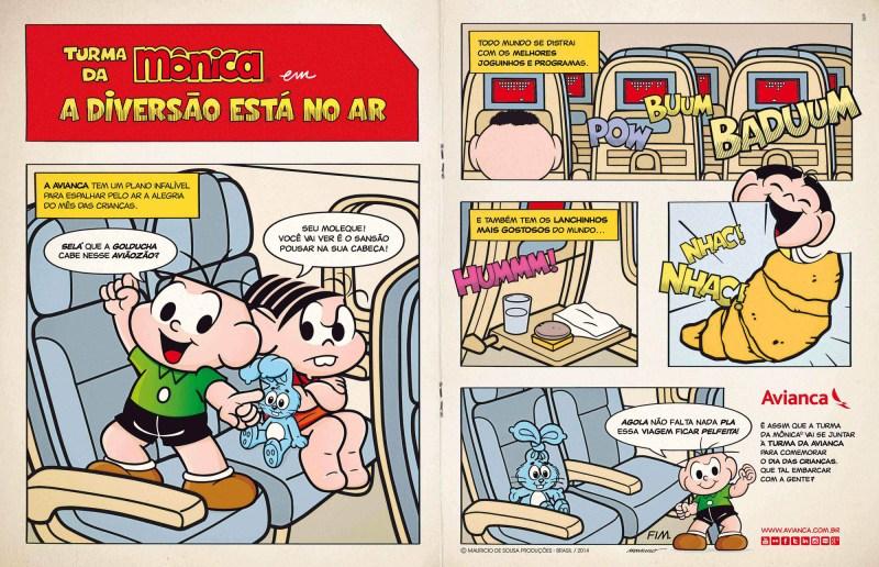 Avianca e Turma da Mônica realizam ação especial para o mês das Crianças