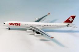Miniatura A340 Swiss (escala 1:400)