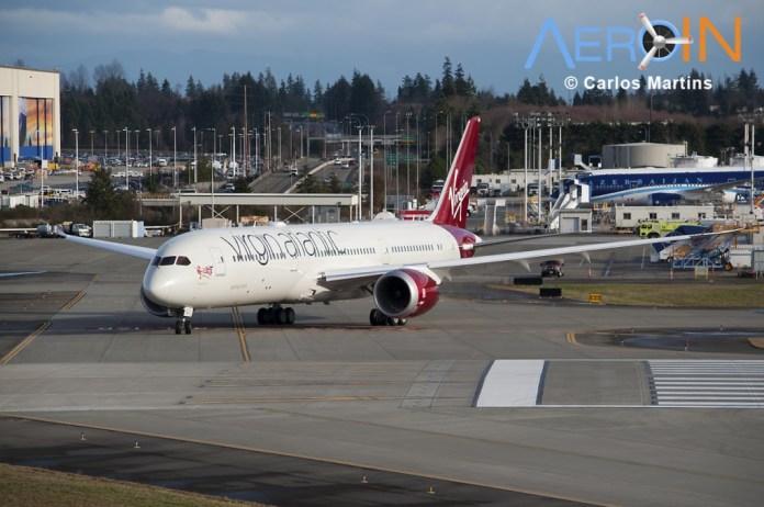 Avião Boeing 787-9 Dreamliner Virgin