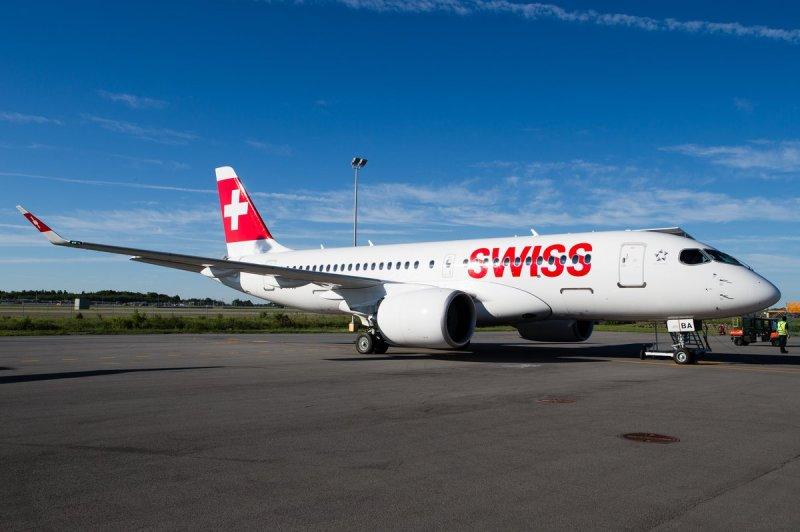 Bombardier CS100 CSeries Swiss