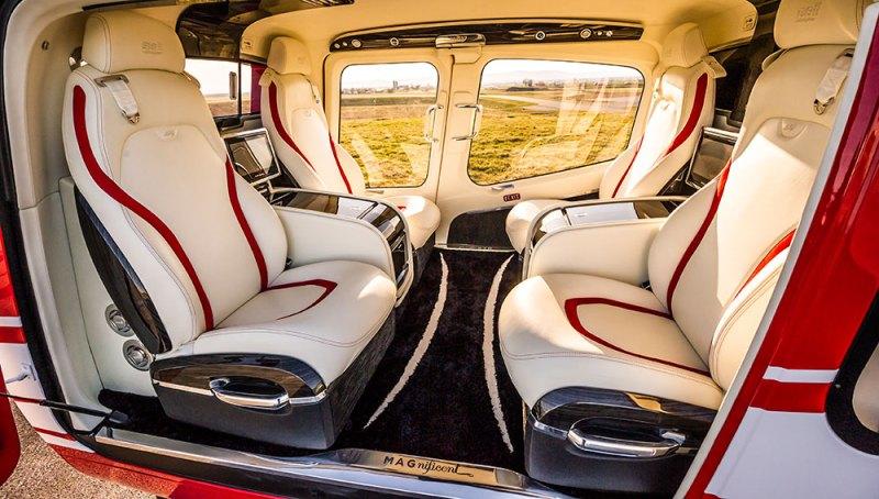 Interior luxuoso do Magnificent.