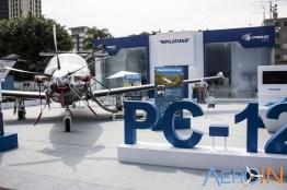 Pilatus veio representada pelo magnífico PC-12NG.