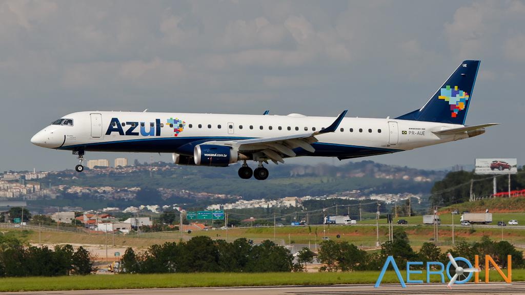Azul troca ATR-72 por Embraer 195 entre Porto Alegre e Montevidéu.