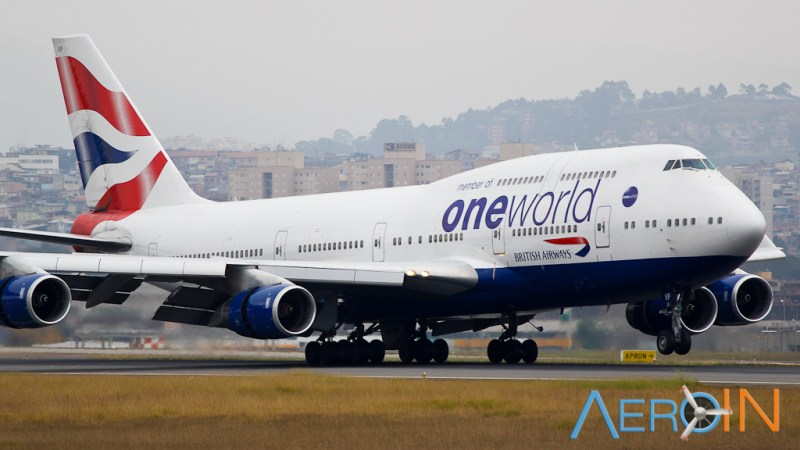 Avião Boeing 747-400 British