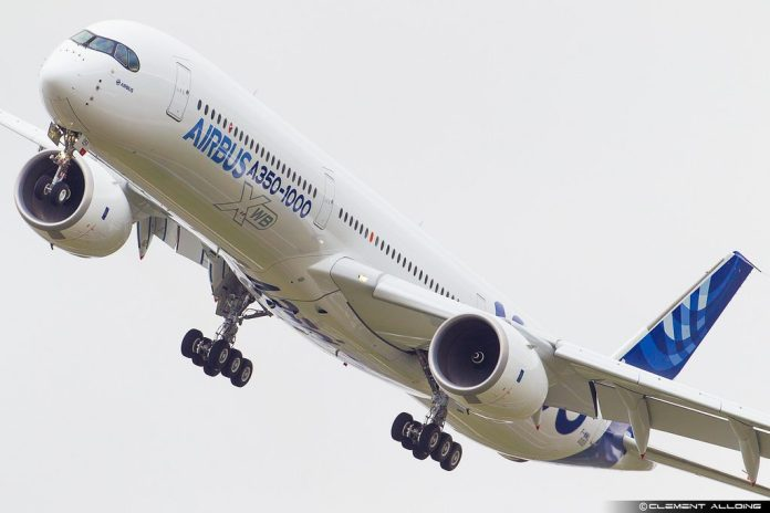 Avião Airbus A350-1000 Singapore Airshow