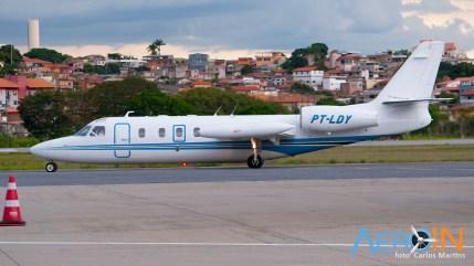 "IAI Westwind ""Lady"", baseado no Aeroporto da Pampulha é o único do modelo no Brasil."
