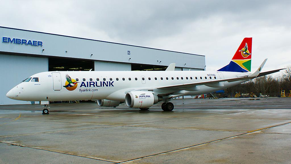 Airlink se torna primeira companhia da África do Sul a adquirir os E-Jets.