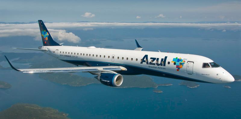 Azul terá 440 voos extras no Recife em Julho.