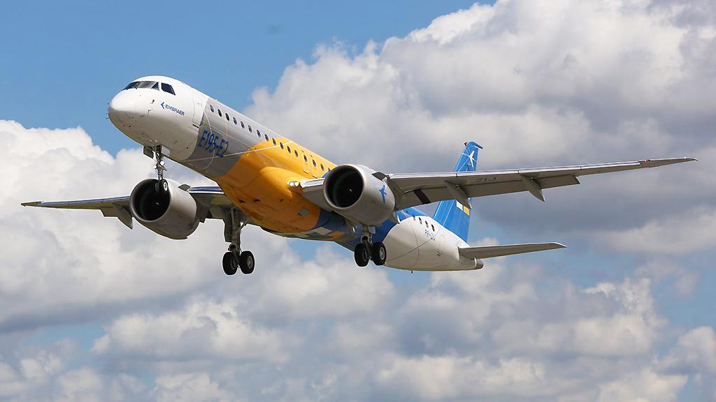 Embraer deve fazer a estreia internacional do E195-E2 em Le Bourget.