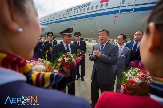 air china 787-9 inaugural gru 2